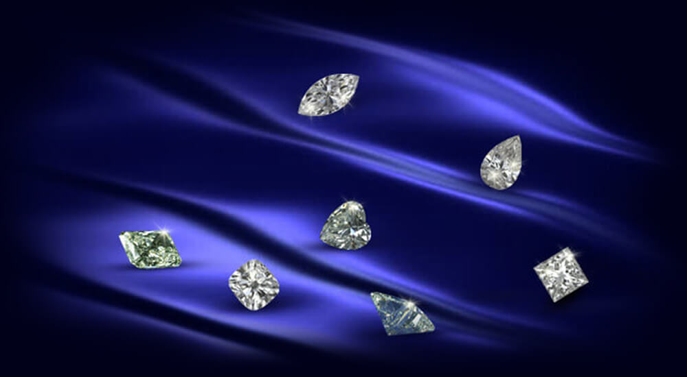 Wide range of certified diamond
